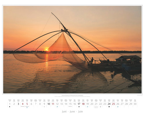 Monatsblatt Juni vom Wandkalender 2017 Südostasien | Foto: Mario Weigt
