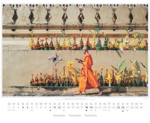 Kalenderblatt November vom Wandkalender 2017 Südostasien | Foto: Mario Weigt