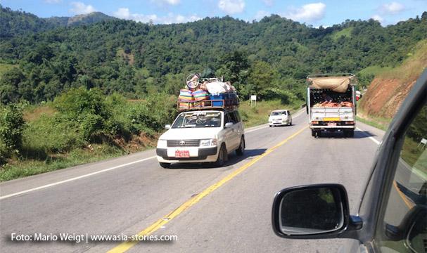 Auf dem Landweg von Thailand nach Myanmar: Neue Straße von Mae Sot (Thailand)   Myawaddy (Myanmar) nach Hpa-an bzw. nach Mawlamyaing