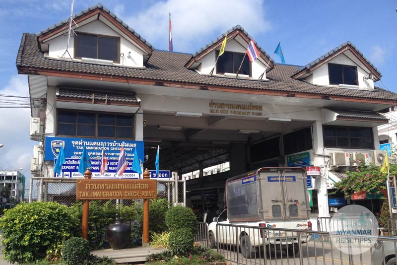Myanmar Reisetipps | Einreise über Land | Mae Sot Immigration Checkpoint