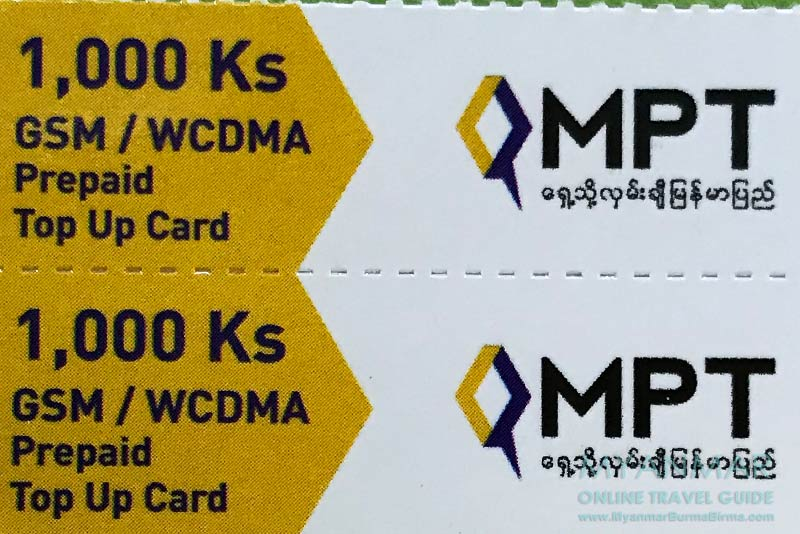 Myanmar Reisetipps | Internet und Telefon | MPT Prepaid Karte