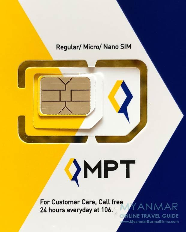 Myanmar Reisetipps | Internet und Telefon | SIM Card von MPT