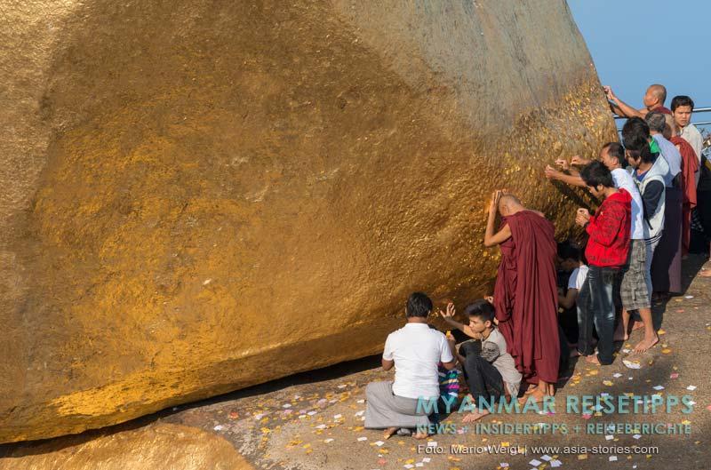 Myanmar Reisetipps | Goldener Felsen Kyaikhtiyo | Kurz vor Sonnenaufgang: Aussicht vom Kyaikhto Hotel