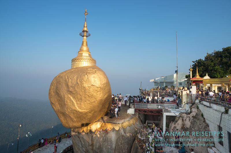 Myanmar Reisetipps | Goldener Felsen Kyaikthtiyo