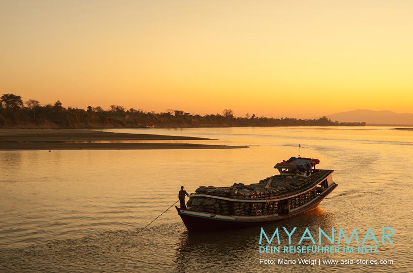 Myanmar Reisetipps | Flussfahrten auf dem Ayeyarwady | Schiffe, Preise und Fahrpläne