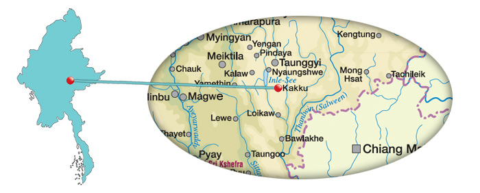 Myanmar - Karte von Kakku