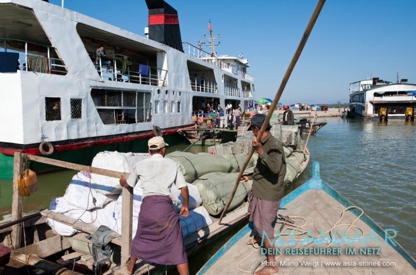 Reisetipps Myanmar - Flussfahrten 2017 und 2018 auf dem Ayeyarwady zwischen Bhamo und Mandalay mit der IWT-Fähre