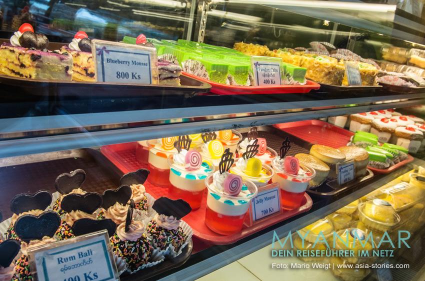 Reisetipp für Myanmar: Essen in Dawei | Bäckerei MK5 Cake & Café