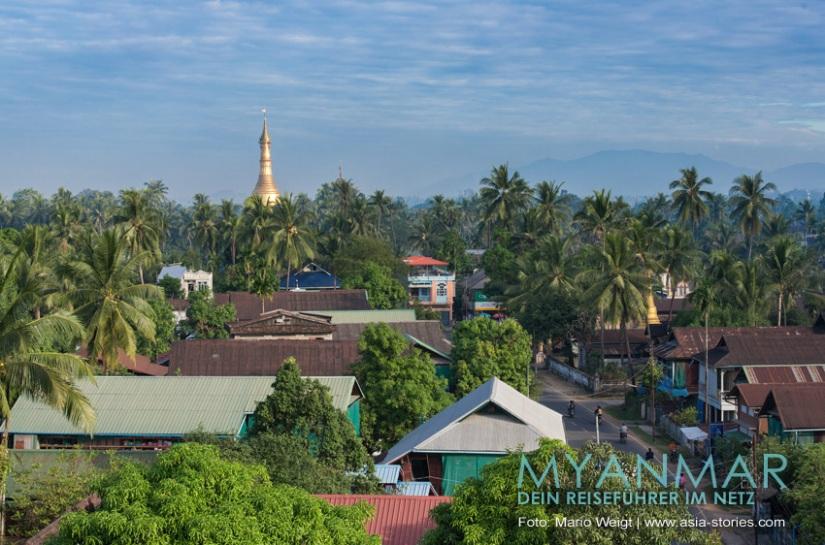 Reisetipps Myanmar - Dawei und die Strände | Aussicht vom Shwe Moung Than Hotel
