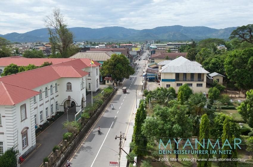 Reisetipps Myanmar - Dawei und die Strände | In den Straßen von Dabei herrscht wenig Verkehr