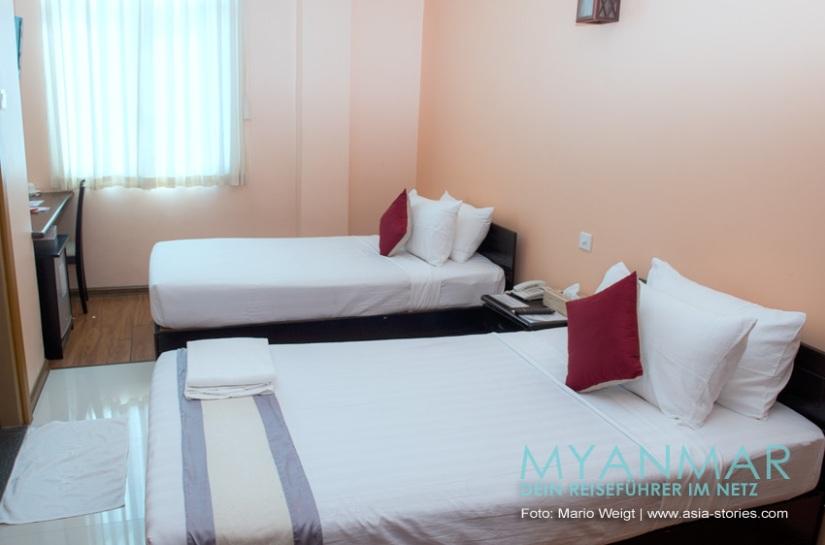 Reisetipps Myanmar - Dawei und die Strände | Zimmer im Hotel Golden Guest Hotel