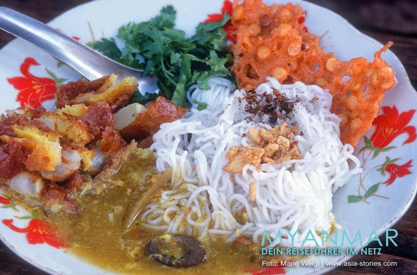 Myanmar Reisetipps | Essen und Snacks | So lecker kann eine Mohinga aussehen