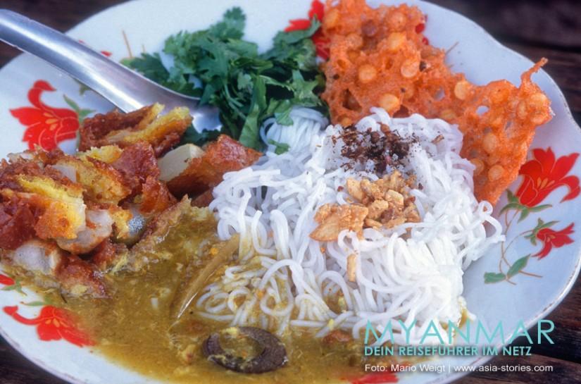 Myanmar Reisetipps - Essen und Snacks | So lecker kann eine Mohinga aussehen
