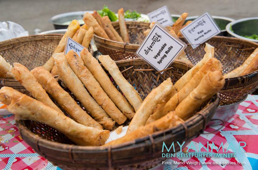 Myanmar Reisetipps | Essen und Snacks | Frühlingsrollen