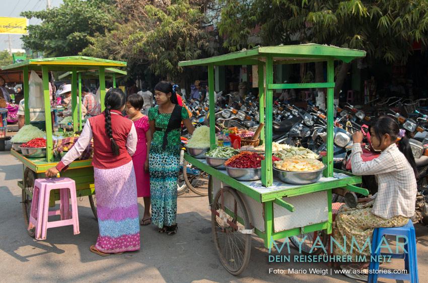 Myanmar Reisetipps | Essen und Snacks | Gemüsesnacks für Vegetarier