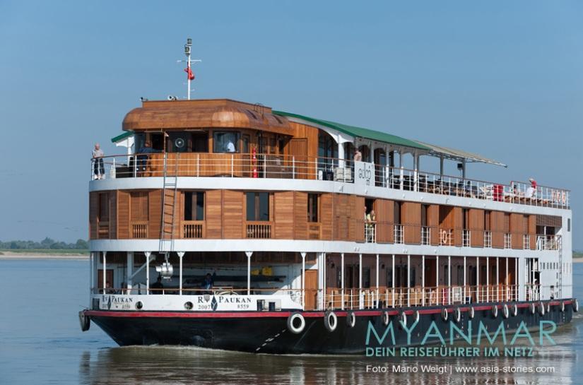 Myanmar Reisetipps - Flussfahrten 2017 und 2018 auf dem Ayeyarwady mit der R. V. Paukan