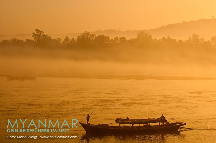 Myanmar Reisetipps | Flussfahrten 2017 und 2018 auf dem Ayeyarwady zwischen Sinbo und Myitkyina