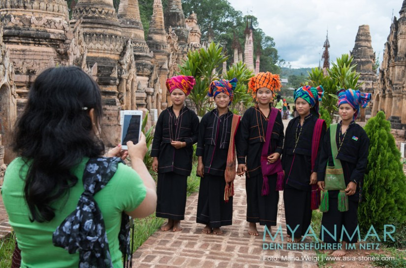 Myanmar - Diese jungen Damen gehören dem Volk der Pa-O an.