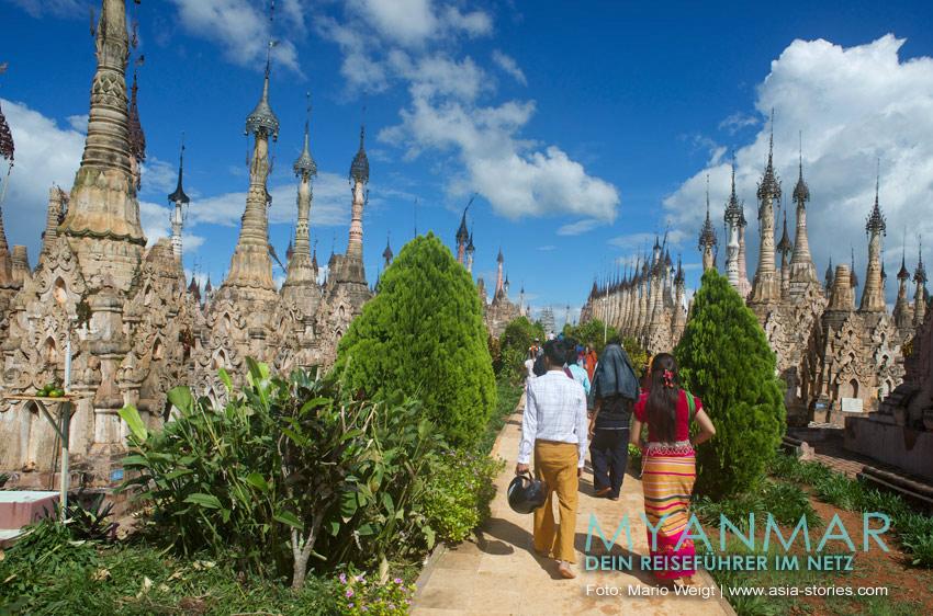 Myanmar Reisetipps | Kakku | Zwischen den Pagoden