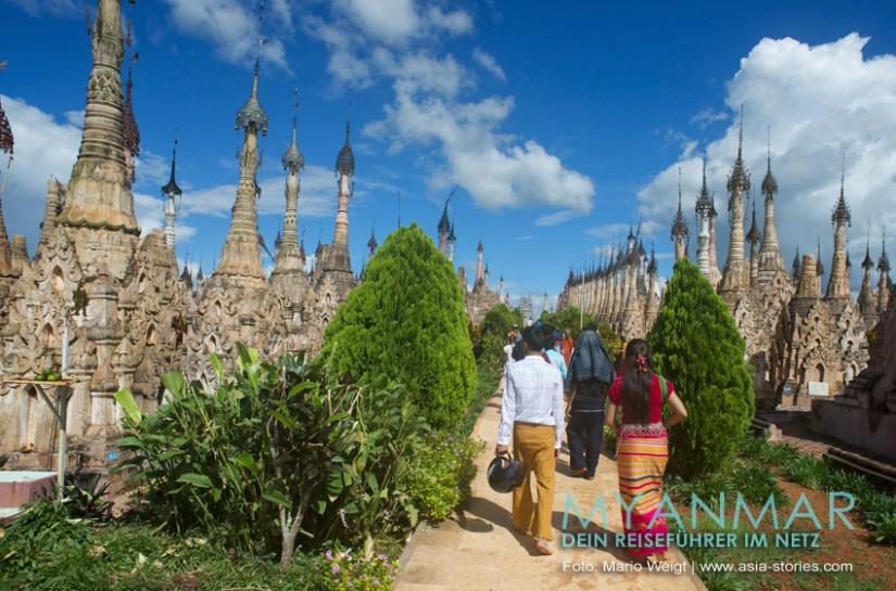 Myanmar Reisetipps - Pagoden in Kakku