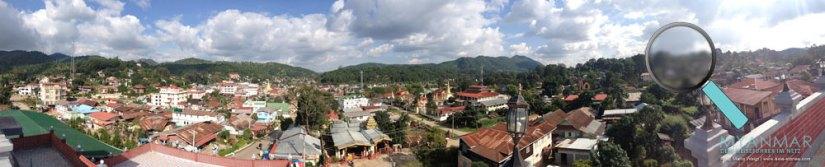 Reisetipps Myanmar - Panoramablick vom Golden Kalaw Inn von der Stadt Kalaw