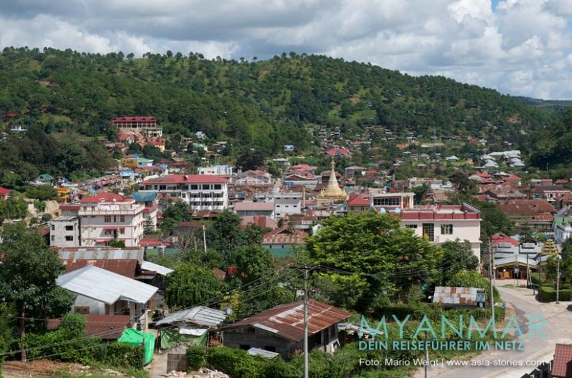 Myanmar Reisetipps - Blick vom Pin Breeze Hotel in Kalaw