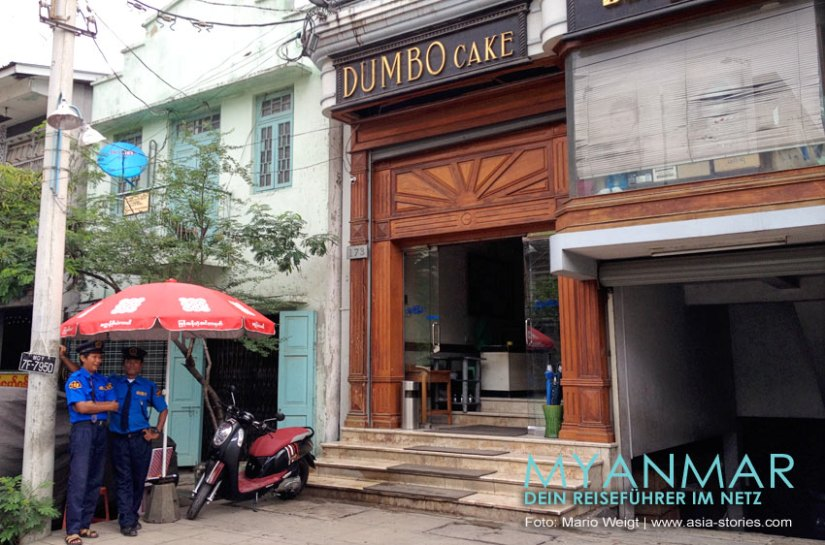 Myanmar Reisetipps - Mandalay   Cafe und Bäckerei Dumbo Cake