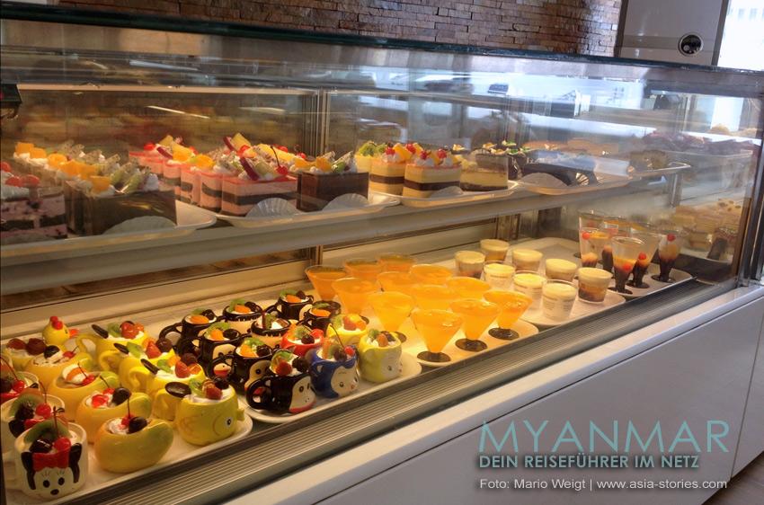 Reisetipps Myanmar - Mandalay | Leckereien im Fudo Cake & Ice Cream