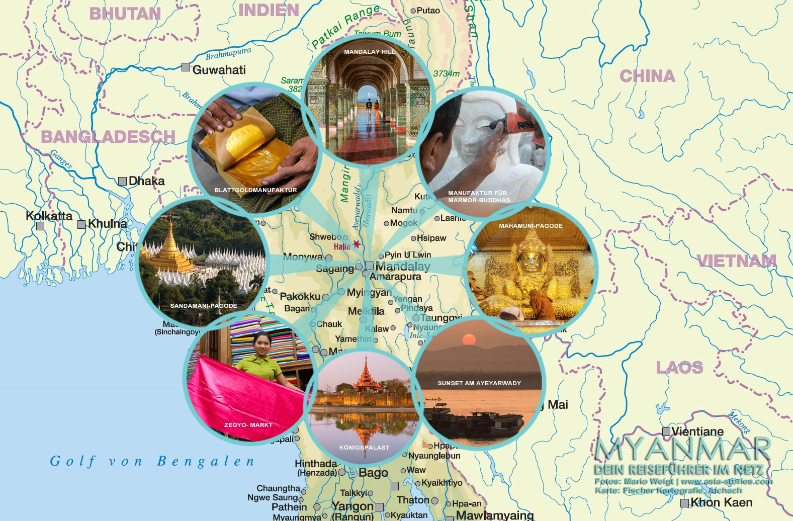 Karte Myanmar.Karte Von Mandalay Myanmar Reisetipps