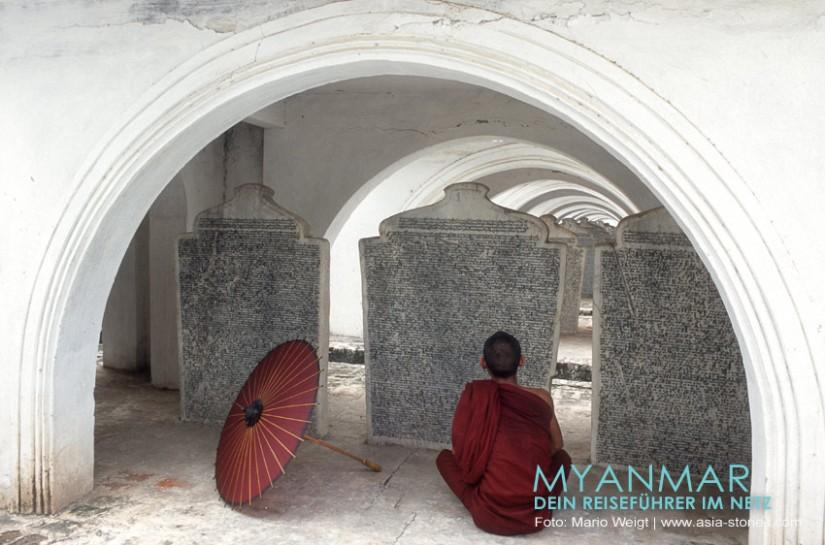 Myanmar Reisetipps - Mandalay   Kuthodaw Pagode - das größte Buch der Welt