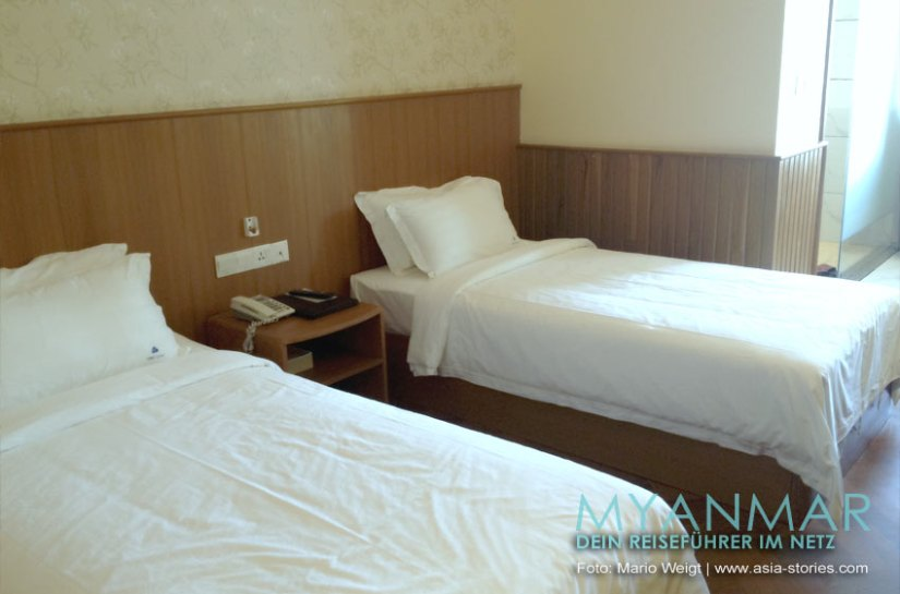 Myanmar Reisetipps - Mandalay   Zimmer im Unity Hotel