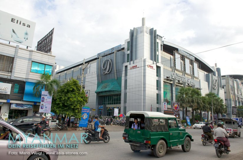 Myanmar Reisetipps - Mandalay   Yadanarbon Diamond Plaza