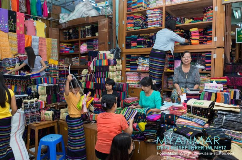 Myanmar Reisetipps - Mandalay   Shoppen im Zeigyo Markt