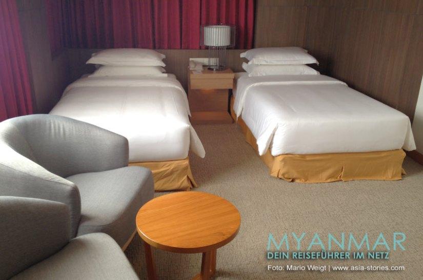 Myanmar Reisetipps - Mandalay   Zimmer im Hotel The Link