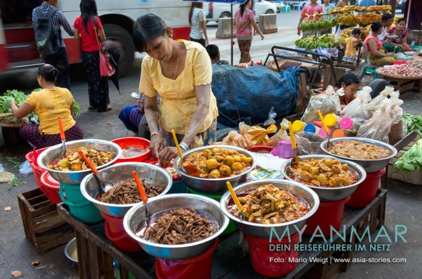 Myanmar Reisetipps - Essen und Getränke | Burmesische Currys