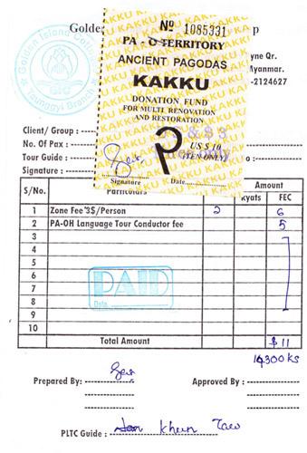 Preis: Ticket und Guide für Kakku