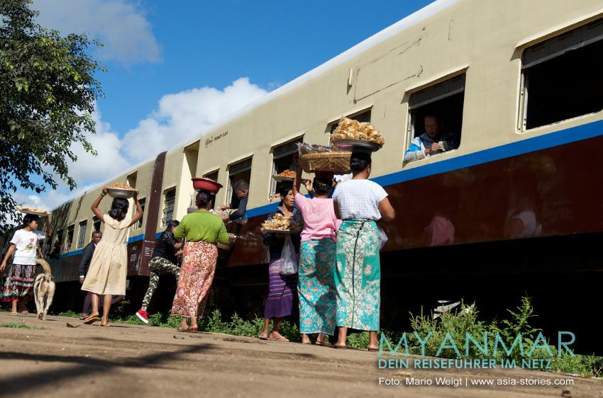 Myanmar Reisetipps - Zug von Shwe Nyaung (nahe Inle-See) nach Kalaw