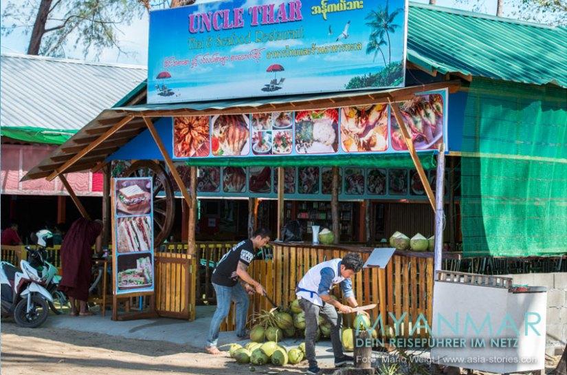 Myanmar Reisetipps - Dawei Peninsula |Seafood Restaurant Uncle Thar am Maungmagan Beach