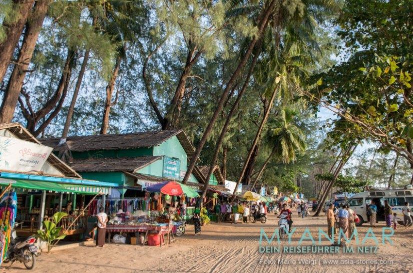Myanmar Reisetipps - Dawei Peninsula | Restaurants am Maungmagan Beach