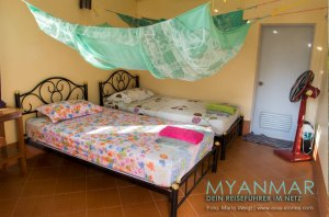 Myanmar Reisetipps - Dawei Peninsula | Maungmagan Beach | Zimmer im Coconut Guesthouse