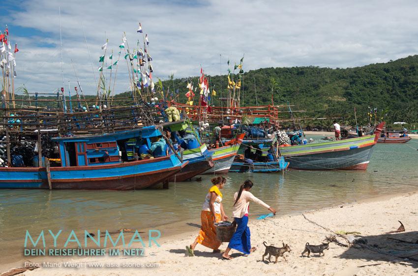 Myanmar Reisetipps - Dawei Peninsula | Fischerdorf Boa Say (Tha Bow Seink)