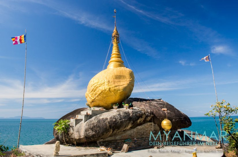 Myanmar Reisetipps - Dawei Peninsula | Goldene Pagode am Nordende vom Strand Pa Nyit