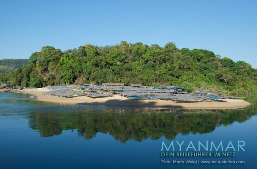 Myanmar Reisetipps - Dawei Peninsula | Fischerdorf San Hlan | Fischtrocknung