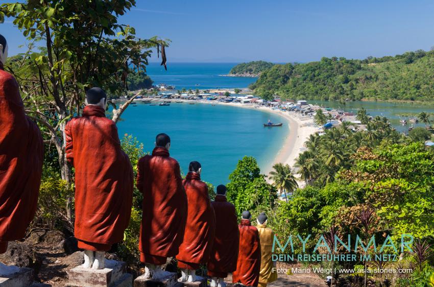 Myanmar Reisetipps - Dawei und die Strände | Strand und Fischerdorf San Hlan (auch San Lan Beach)