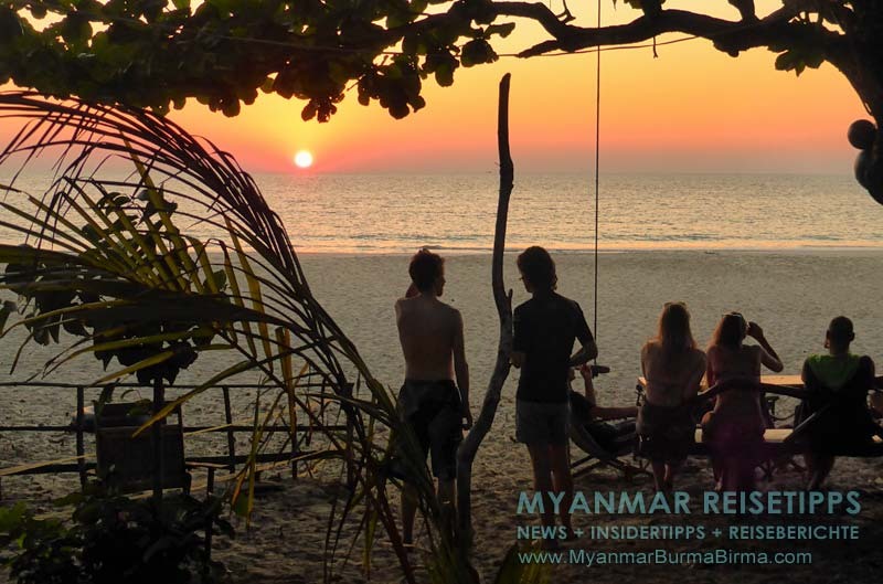 Myanmar Reisetipps | Dawei Peninsula | Sonnenuntergang am Sin Htauk Beach