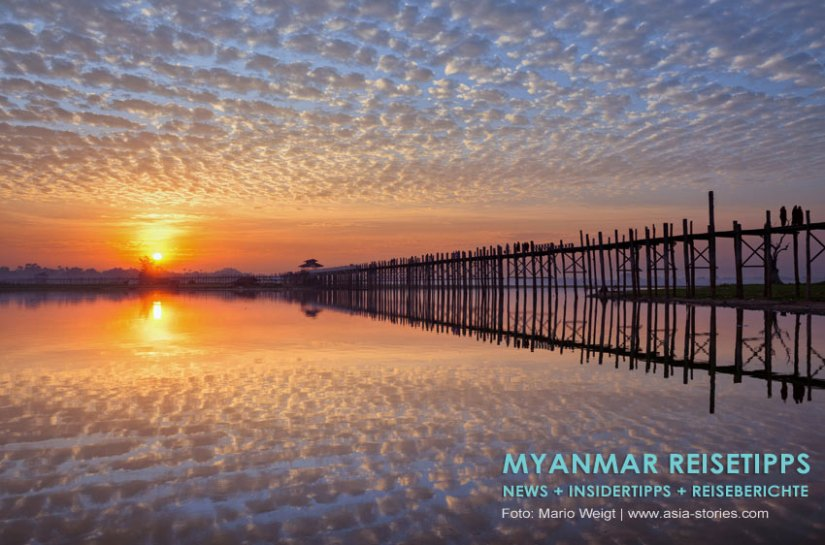 Myanmar Reisetipps   Umgebung von Mandalay   Amarapura   U-Bein-Brücke