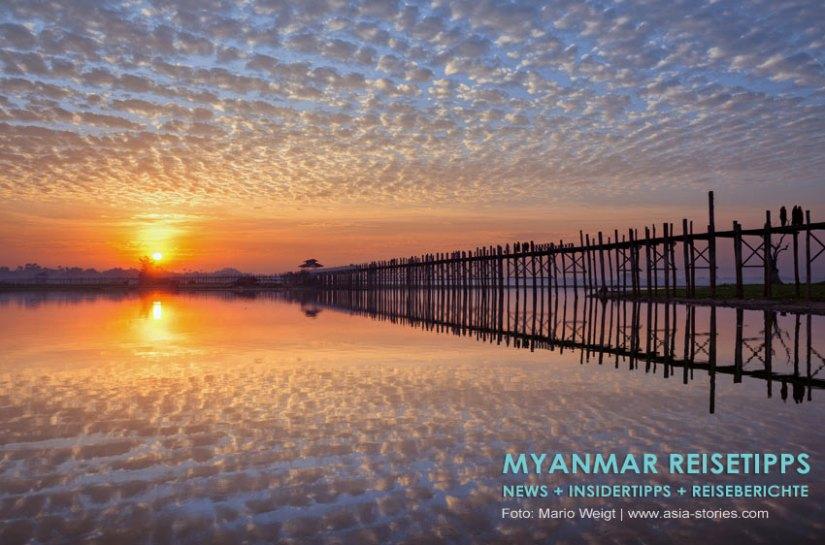 Myanmar Reisetipps | Umgebung von Mandalay | Amarapura | U-Bein-Brücke