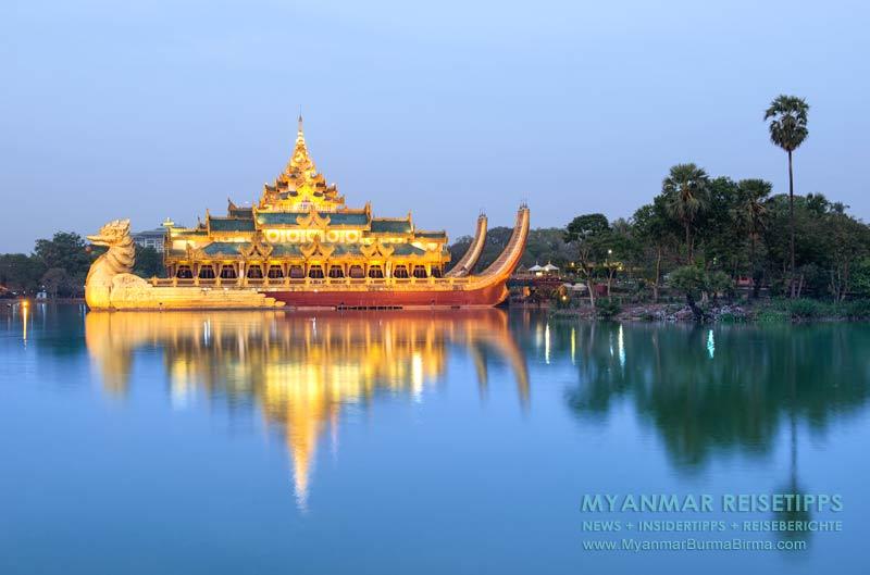 Myanmar Reisetipps | Yangon Karaweik Palace