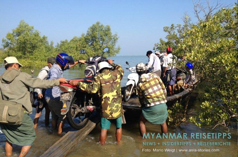 Myanmar Reisetipps | Fähre zwischen Ngwe Saung und Chaungtha Beach