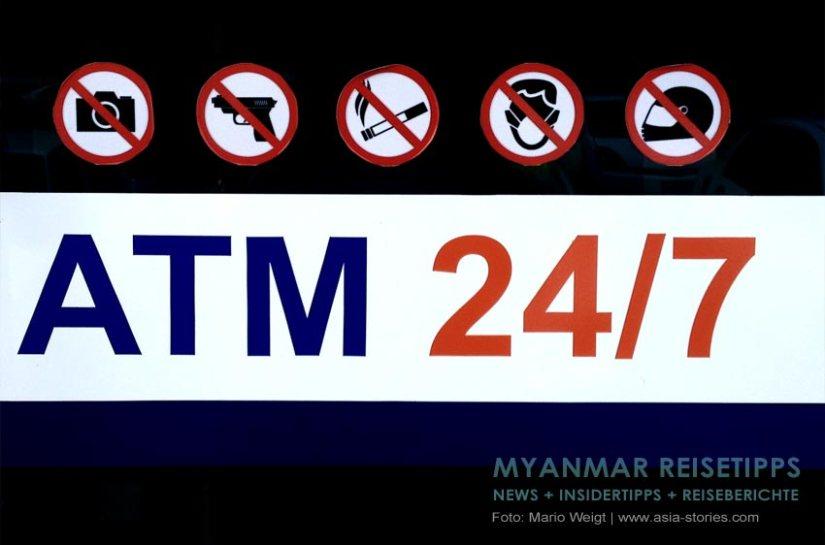 Myanmar Reisetipps | Rund ums Geld | Abheben am Geldautomat